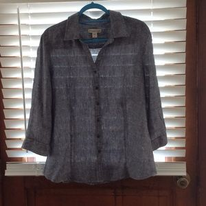 Cold water Creek linen Blouse